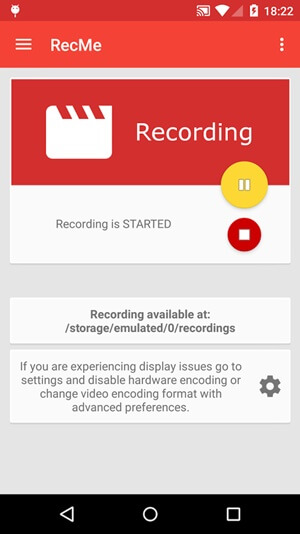 RecMe-Free-Screen-Recorder-Android