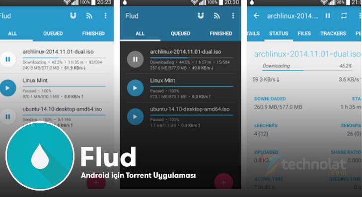 android torrent uygulaması, flud